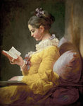 Young Girl Reading, c.1776 Poster Art Print by Albert Williams