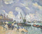 Quai de Bercy, Paris, 1873-75 Poster Art Print by Paul Signac
