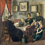 Pastor Johann Wilhelm Rautenberg and his Family, 1833 Poster Art Print by Pierre-Auguste Renoir