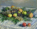 Still Life with Pears and Grapes, 1880 Poster Art Print by Pierre-Auguste Renoir