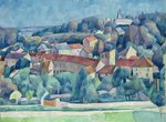 Hardricourt Village and Castle Poster Art Print by Paul Cezanne