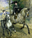 Horsewoman in the Bois de Boulogne, 1873 Poster Art Print by Gustave Caillebotte