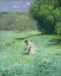 Woodland Meadow, 1876 (oil on panel) by Franz von Bayros - print