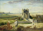 Campagna Landscape near the Nomentano Bridge Poster Art Print by Philippe de Champaigne