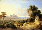 View of Palermo, 1840 Poster Art Print by August Wilhelm Julius Ahlborn