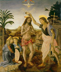 The Baptism of Christ by John the Baptist, c.1475 Poster Art Print by Giotto di Bondone
