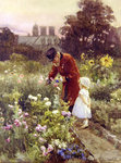 Grandad's Garden Poster Art Print by Edward Killingworth Johnson