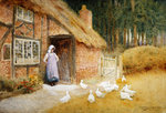 The Goose Girl Poster Art Print by Arthur Claude Strachan