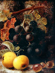 Grapes, Apples and Gooseberries Poster Art Print by William Henry Hunt