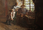 Resting Poster Art Print by William Kay Blacklock