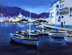 Cadaques Evening Poster Art Print by Ted Blackall