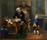 Frederick the Great and his Grandnephew Poster Art Print by William Henry Hunt