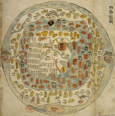 Fine Art Print of A Korean World Map by Anonymous