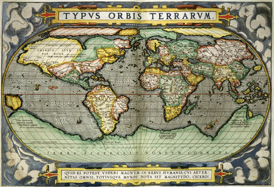 Fine Art Print of World Map by Abraham Ortelius