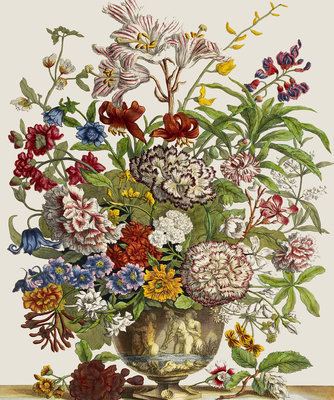 Flowers in a vase Poster Art Print by Pieter Casteels
