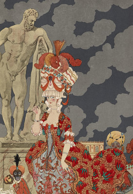 Cortège by George Barbier - print