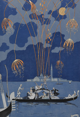 En bateau by George Barbier - print