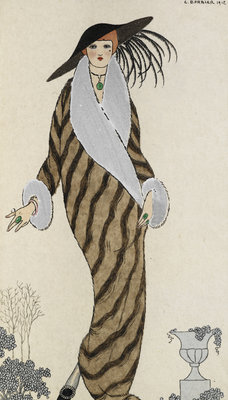 Manteau de Liberline by George Barbier - print