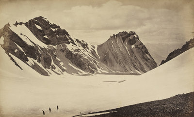 View from the top of the Manirung Pass by Samuel Bourne - print