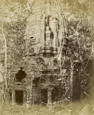 Tower of Prea Sat Ling Poun by John Thomson - print