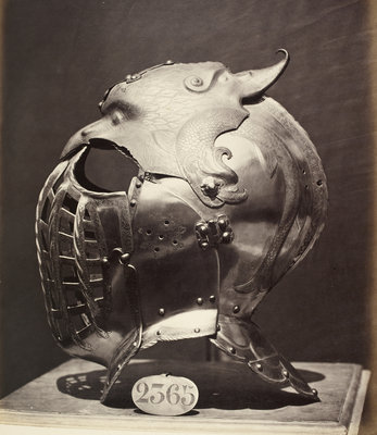 Helmet of the Emperor Charles V by Charles Clifford - print