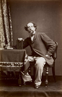Portrait of Charles Dickens, 1861 by Watkins Studio - print