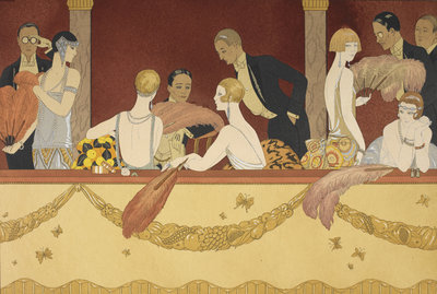 Eventails by George Barbier, Henri Reidel - print
