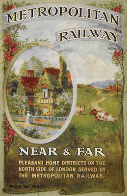 Metropolitan Railway: Near and Far Poster Art Print by Anonymous