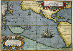 Map of the Pacific Ocean Poster Art Print by Anonymous