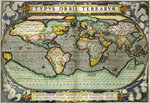 World Map Poster Art Print by Petrus