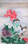 Two birds with flowers by Robert John Thornton - print