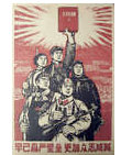 Communists with book by Chinese Propaganda - print