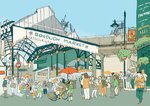 Southwark by Sweet View - print
