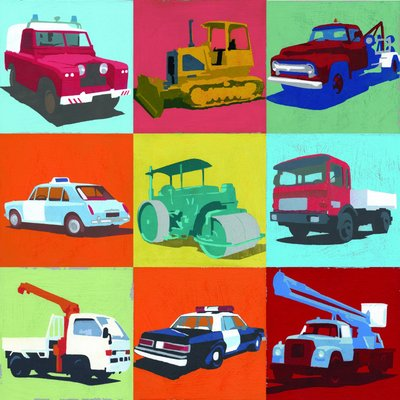 Cars and Trucks by Andy Bridge - print
