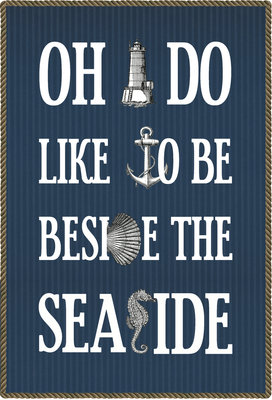 Oh I Do Like to Be Beside the Seaside by Of Life and Lemons - print