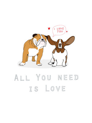 All You Need is Love by Hanna Melin - print