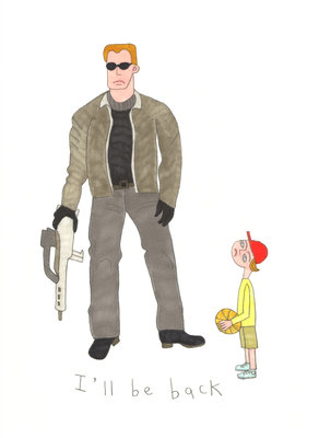 Arnie's Weapon by Jennifer Camilleri - print