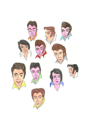 The Changing Face of Elvis by Jennifer Camilleri - print