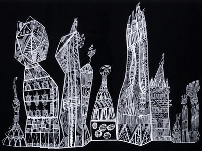 City Fringes by Louise Howlett - print