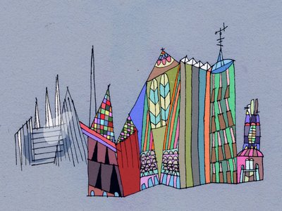 Let's Paint this City by Louise Howlett - print