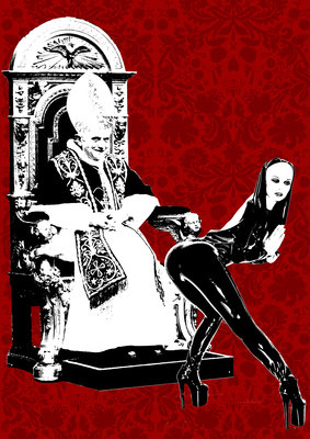Pope by Rich Simmons (ART IS THE CURE) - print