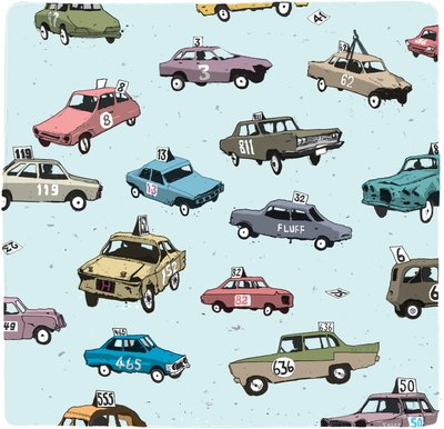 Stock Cars by Simon Tozer - print