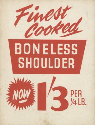 Boneless Shoulder by Vintage by Hemingway - print