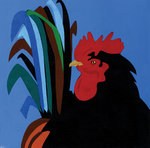 Cockerel by Andy Bridge - print