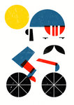 Moustached Cyclist by Dale Edwin Murray - print