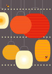 Lanterns by Dicky Bird - print