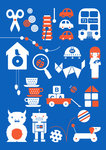 Toys by Dicky Bird - print