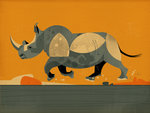 Running Rhino by Dieter Braun - print