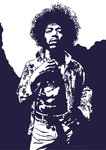 Jimi Hendrix - Purple Haze by Emily Gray - print