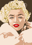 Marilyn - Gentlemen Prefer Blondes by Emily Gray - print